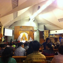 Photo taken at Gereja Katolik Santo Andreas by Marcella S. on 12/24/2012