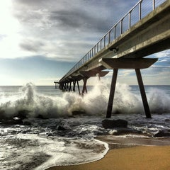 Photo taken at Pont del Petroli by Diego F. on 4/2/2013
