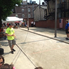 Photo taken at Little Italy Bocce Court by Greg C. on 6/9/2013