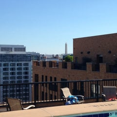 Photo taken at The Whitman Rooftop Pool by Kevin S. on 7/5/2014