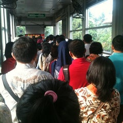 Photo taken at Halte TransJakarta Departemen Pertanian by Jati Agus P. on 11/2/2012