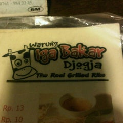 Photo taken at Iga Bakar Jogja by Bela S. on 9/29/2012