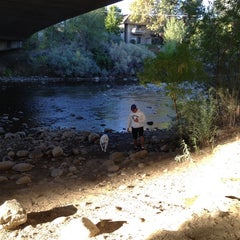 Photo taken at Truckee River by Lara P. on 10/5/2014