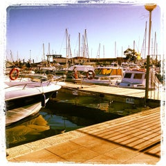 Photo taken at Club Nautico Sant Carles de la Rapita by Paco I. on 10/31/2013