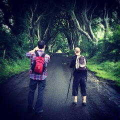 Photo taken at The Dark Hedges by Emilienko on 8/10/2014