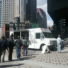 Photo taken at Clover Food Truck (Dewey Sq) by Brittany F. on 3/26/2013