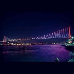 Photo taken at Boğaziçi Köprüsü by Özgür Ö. on 10/28/2012