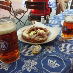 Photo taken at Hofbräu München Beer Hall by Petros G. on 5/17/2013