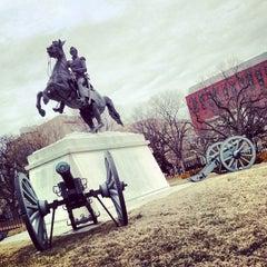 Photo taken at Andrew Jackson Statue by Octavio B. on 2/20/2014