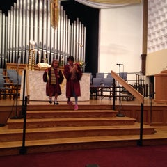 Photo taken at First United Methodist Church of Boulder by Erica B. on 5/25/2014