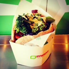 Photo taken at Maoz Vegetarian by Peter C. on 1/24/2013