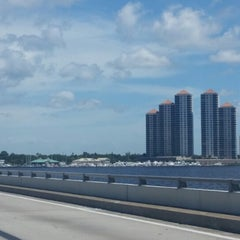 Photo taken at Caloosahatchee Bridge by Chris G. on 6/21/2014