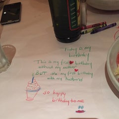 Photo taken at Romano's Macaroni Grill by Sila Gunce C. on 4/16/2015