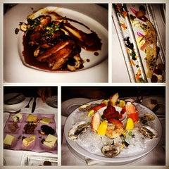 Photo taken at Aureole Wine Lounge by jenneyluong on 2/13/2013
