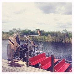 Photo taken at Buffalo Tiger's Airboat Rides by alessandra B. on 9/12/2015