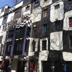 Photo taken at KUNST HAUS WIEN. Museum Hundertwasser by Sveas P. on 4/4/2013
