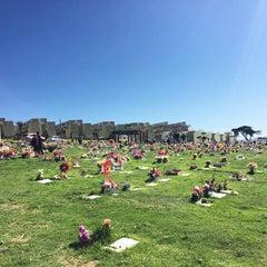 Photo taken at Cementerio de Playa Ancha by Rodrigo V. on 10/25/2015