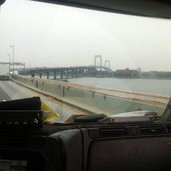 Photo taken at Throgs Neck Bridge Toll Plaza by Brandon W. on 10/3/2012