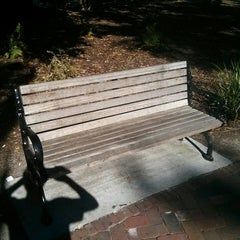 Photo taken at Forrest Gump's Bench (former location) by Matthew G. on 10/2/2013
