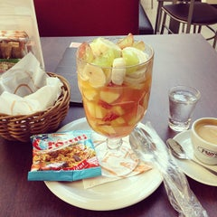 Photo taken at Fran's Café by Cesar Y. on 2/22/2013