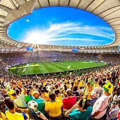 Photo taken at Estádio Jornalista Mário Filho (Maracanã) by Claudia R. on 6/30/2013