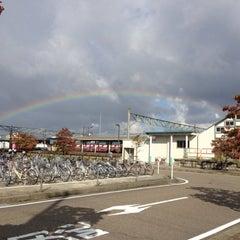 Photo taken at 東三条駅 (Higashi-Sanjo Sta.) by Yutacar on 10/4/2012