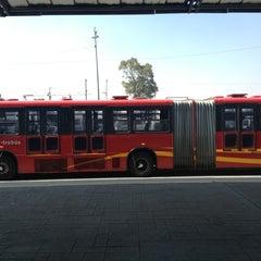 Photo taken at Metrobús  Indios Verdes by Juan M R. on 2/11/2013