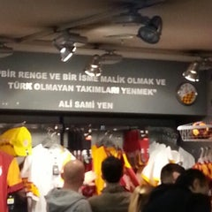 Photo taken at Galatasaray Store by Elif Ö. on 4/7/2013