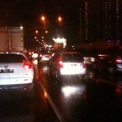 Photo taken at Gerbang Tol Ancol Barat by Willy C. on 11/22/2012
