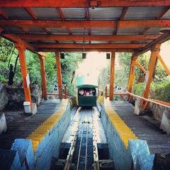 Photo taken at Funicular Cerro San Cristóbal by Tom L. on 5/19/2013
