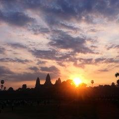 Photo taken at Angkor Wat Temple (អង្គរវត្ត) by Pam G. on 2/14/2013