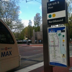Photo taken at TriMet SW 6th & Pine St MAX Station by Jonathan B. on 4/13/2013