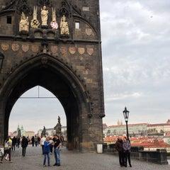 Photo taken at Staroměstská mostecká věž | Old Town Bridge Tower by Ben H. on 4/19/2013