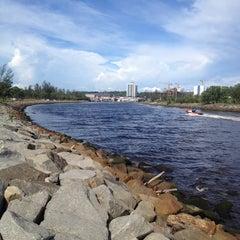Photo taken at Muara Miri River by Jerry Tan E. on 5/13/2014