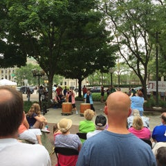 Photo taken at Freimann Square by Adam H. on 8/29/2015