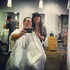 Photo taken at Crimpers Hair Salon by Tyler L. on 10/6/2012