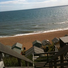 Photo taken at Hordle Cliff West by Becky S. on 8/9/2013