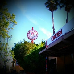 Photo taken at Roscoe's House of Chicken and Waffles by Amanda C. on 12/28/2012