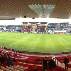Photo taken at Sincil Bank Stadium-Lincoln City Football Club by Tom L. on 8/13/2013