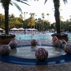 Photo taken at Hard Rock Hotel Beach Pool by Rebecca N. on 5/6/2013