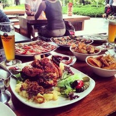 Photo taken at Brotzeit German Bier Bar & Restaurant by Vishal S. on 8/31/2013