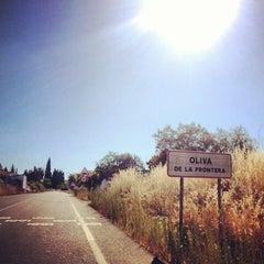 Photo taken at Oliva de la Frontera by Danonino G. on 8/16/2013