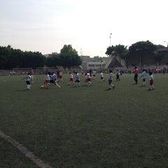 Photo taken at Cancha de Futbol de la Delegación Benito Juarez by Adolfo C. on 6/8/2013