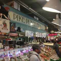 Photo taken at Pike Place Fish Market by David H. on 1/15/2013