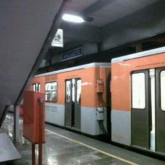 Photo taken at Metro Viaducto (Línea 2) by Elias S. on 1/19/2013