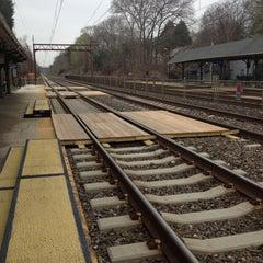 Photo taken at SEPTA St. Davids Station Inbound Platform by Kim K. on 4/11/2013