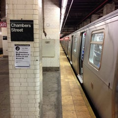 Photo taken at MTA Subway - Brooklyn Bridge/City Hall/Chambers St (J/Z/4/5/6) by Scott B. on 12/1/2012