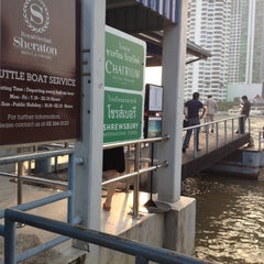 Photo taken at ท่าเรือสาทร (ตากสิน) Sathorn (Taksin) Pier CEN by Miew M. on 10/11/2012