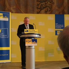 Photo taken at Bayerischer Landtag by Jimmy S. on 6/23/2013