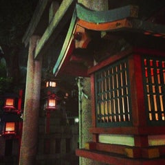 Photo taken at 春日神社 by Rie O. on 8/19/2013